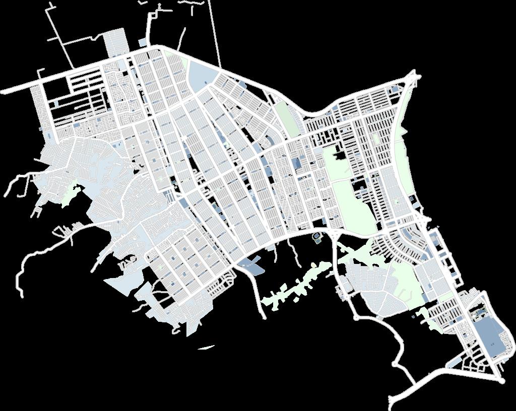 Mapa de Ceilândia e Taguatinga do projeto Brasília Vida Segura